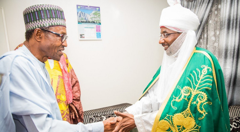Buhari condoles with Emir Sanusi over uncle's death