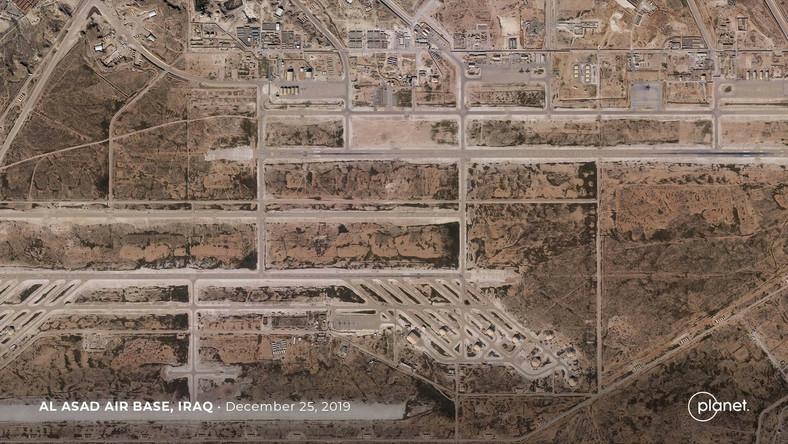 Lotnisko w zaatakowanej bazie wojsk USA w Iraku