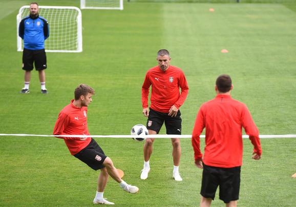 Fudbalska reprezentacija Srbije na treningu u Rusiji