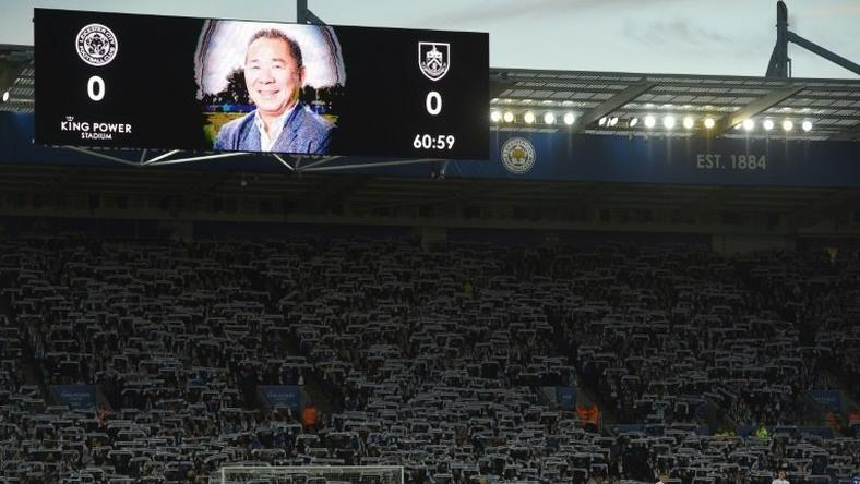 Leicester paid tribute to late owner Vichai Srivaddhanaprabha before the match against Burnley
