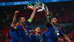 Giorgio Chiellini (L) was key ot Italy's Euro 2020 triumph this summer Creator: Laurence Griffiths