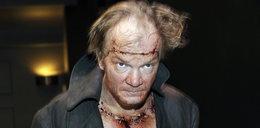 Krew na twarzy aktora. Skąd się wzięła?