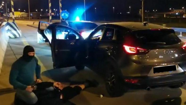 Zatrzymanie złodzieja samochodów