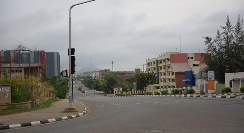 A quiet street in Ghana