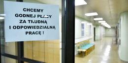 Protest pielęgniarek w szpitalu Matki Polki