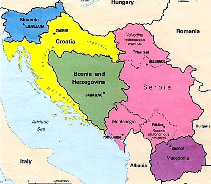 Jugoslavija mapa foto Promo University of Texas Libraries