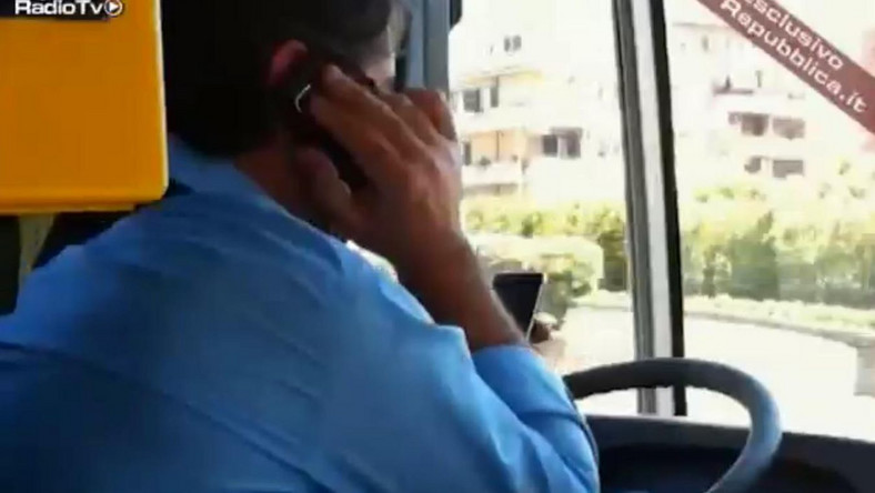 Włoski kierowca autobusu