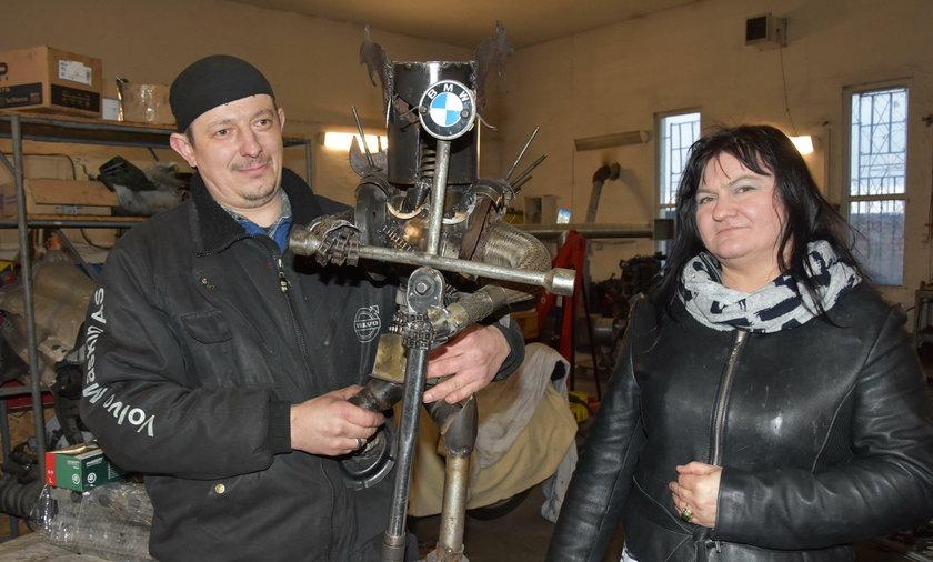 Arek Kiełbasiński z żoną