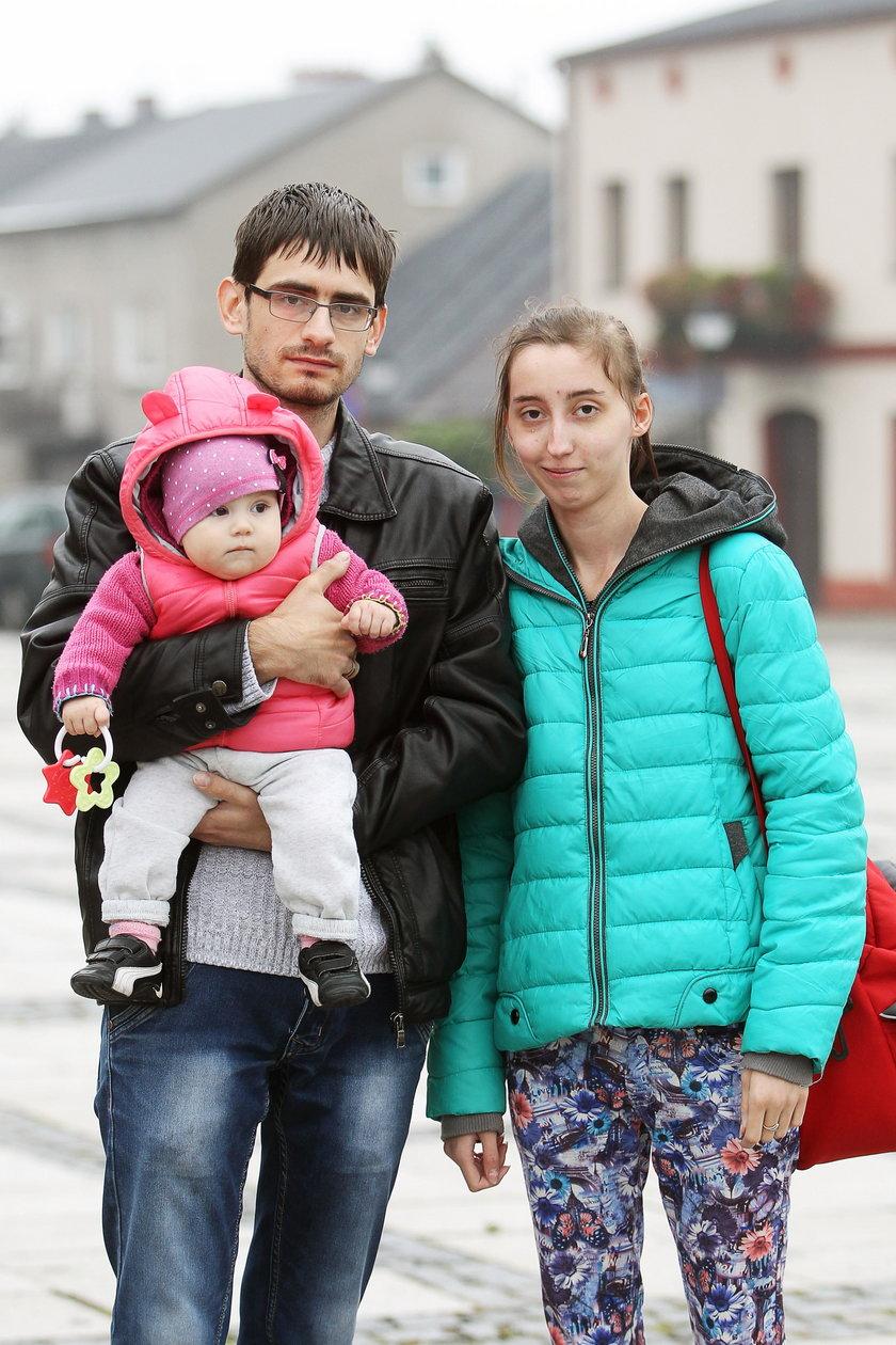 Mateusz (30 l.), Anna (21 l.) i Wiktoria (10 m.) Liberscy z okolic Słakowa