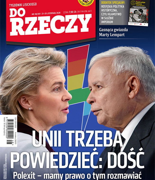 """Okładka tygodnika """"Do Rzeczy"""" z 23 listopada"""