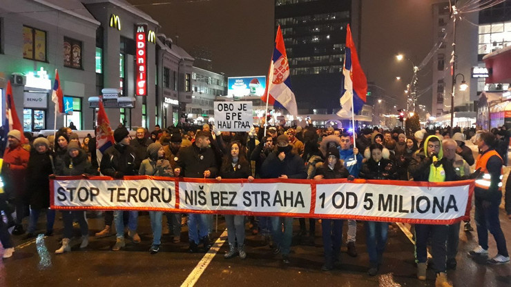 Protest Niš RAS B. J.