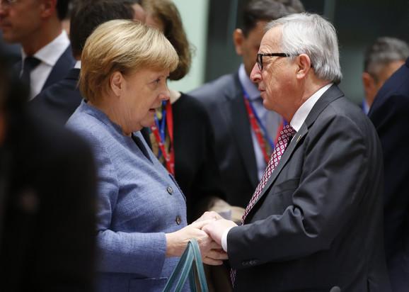 Merkel i Junker