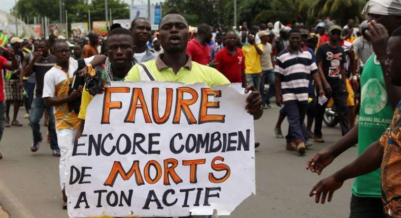 Anti-government protest in Togo