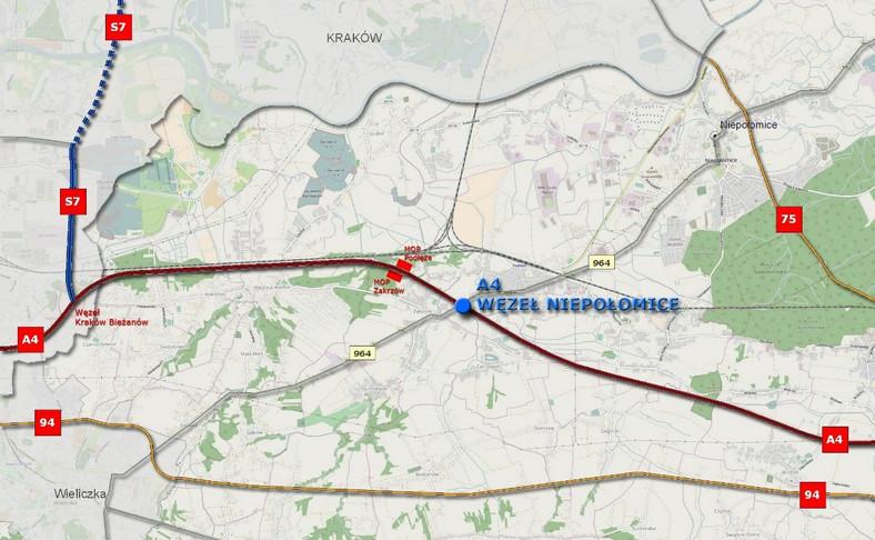 Małopolskie: Przetarg na węzeł na autostradzie A4 w Niepołomicach