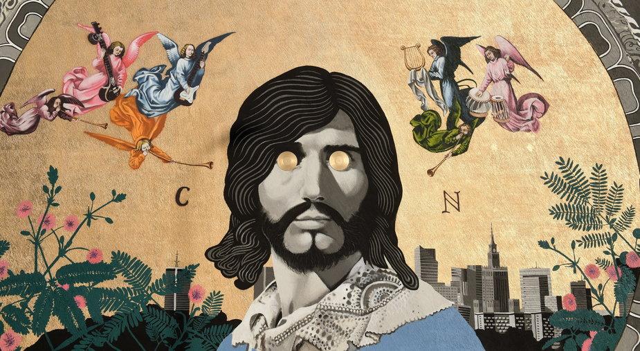 Nowy mural autorstwa Bruno Althamera, przedstawiający wizerunek piosenkarza Czesława Niemena