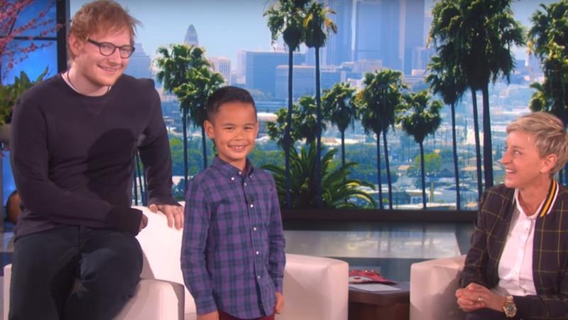 Ed Sheeran, ośmioletni Kai i Ellen Degeners
