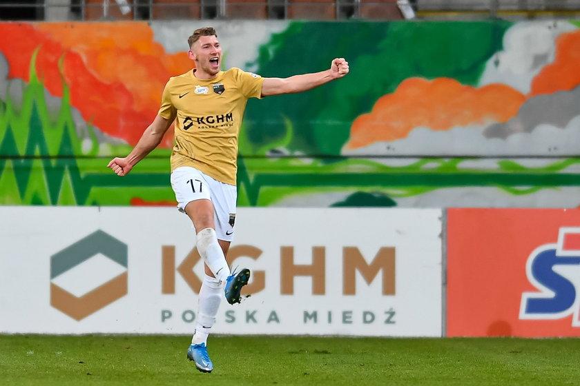 Piłkarz Zagłębia Patryk Szysz (23 .) ma teraz najlepszy czas w karierze.