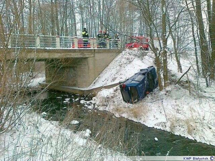 Fiat spadł ze skarpy! Foty