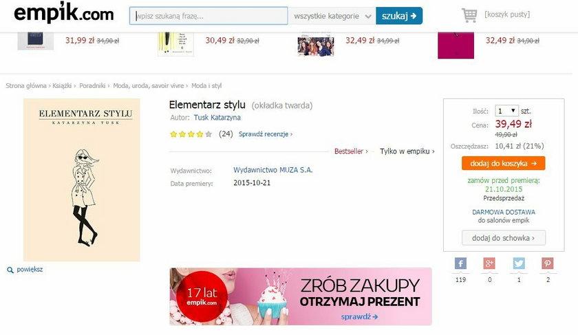 Cena ksiązki Kasi Tusk
