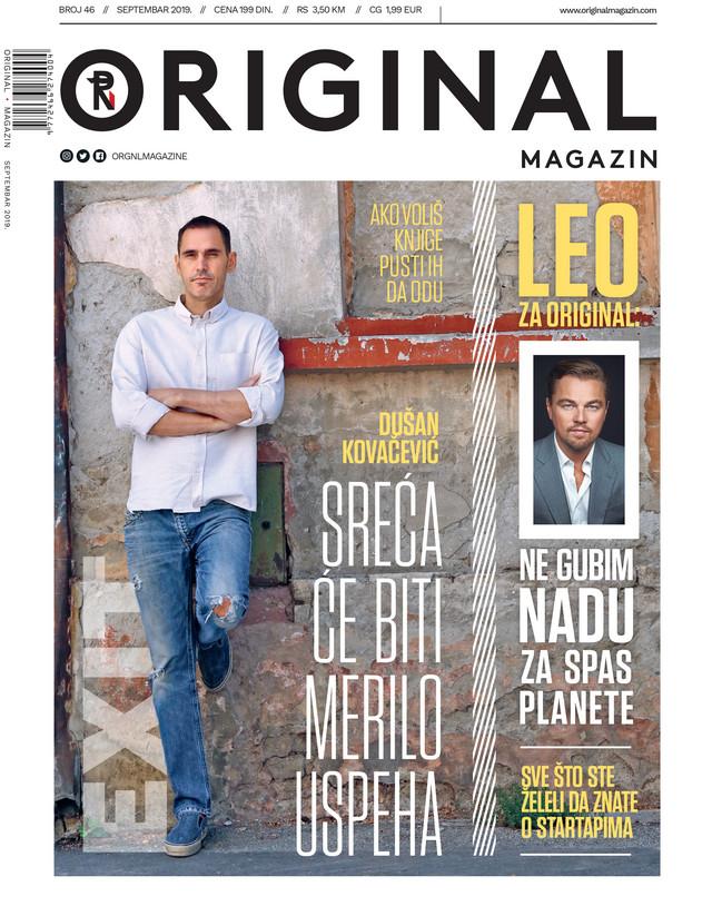 U ovom broju, koji je još nekoliko dana na kioscima, nalazi se i intervju koji je Leonardo DiKaprio dao ekskluzivno za Original