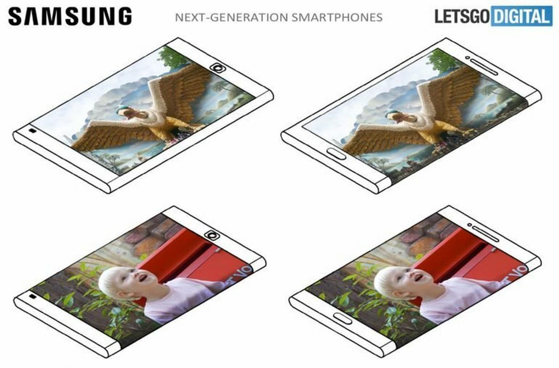 We wniosku patentowym Samsunga zobaczyć można projekt telefonu z ekranem zawijanym wokół bocznej krawędzi