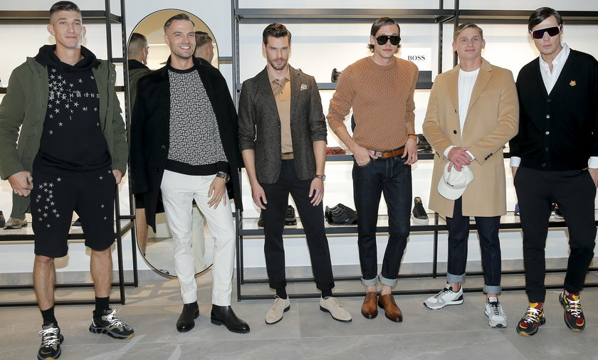 Najprzystojniejsi polscy modele na otwarciu butiku Gomez.
