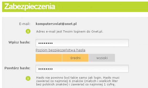 strona podłączenia nie wymaga adresu e-mail