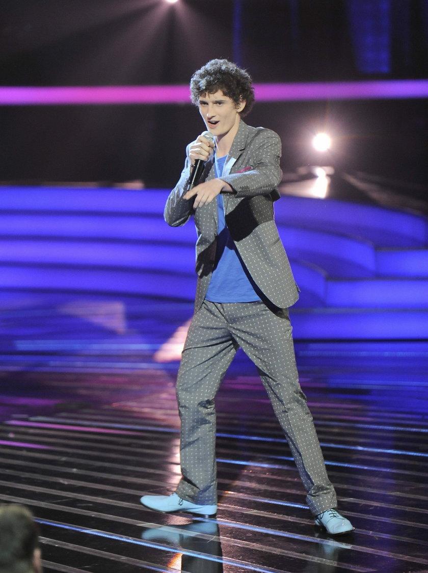 Dawid Podsiadło na scenie X-Factor