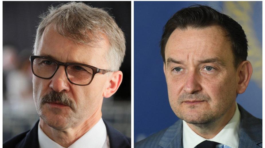 Sędzia Leszek Mazur i sędzia Maciej Mitera