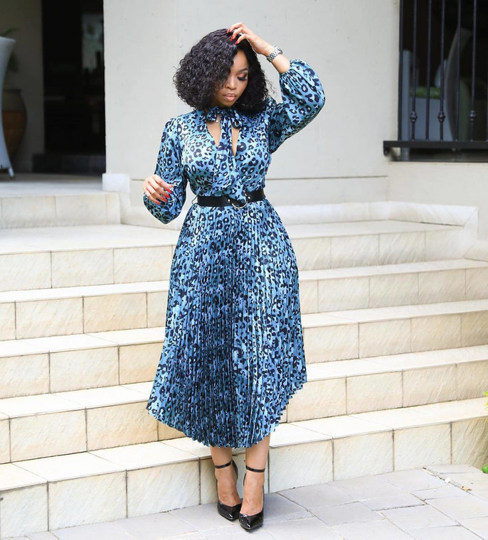 Print gown for a perfect work style [Curated- Instagram/ Lerato Seuoe]