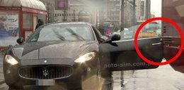 Uszkodzone Maserati z programu TVN. Mandat dostał...