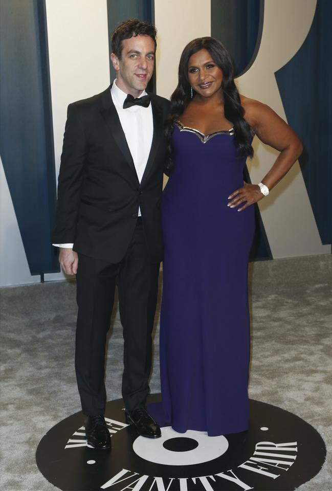 Oscary 2020: B.J. Novak i Mindy Kaling na Vanity Fair Oscar Party