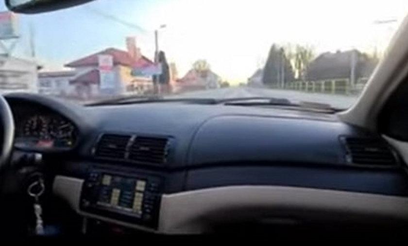 Za nic miał przepisy ruchu drogowego. Pędził ponad 180 km/h. Mrożące krew w żyłach nagranie