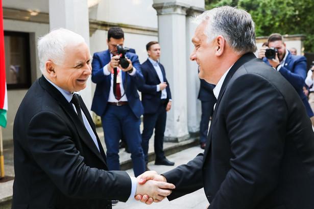 Spotkanie Jarosława Kaczyńskiego z Viktorem Orbanem