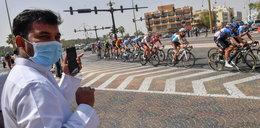 Przerwano wyścig w Abu Zabi. Polscy kolarze uwięzieni w hotelu
