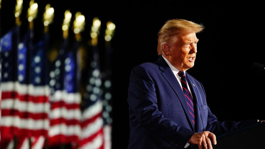 Donald Trump podczas konwencji Republikanów