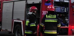 Wypadek awionetki w Zegrzu Pomorskim. Maszyna stanęła w ogniu