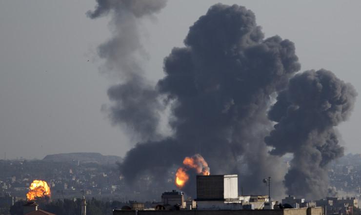 Gaza, Pojas Gaze, bombardovanje