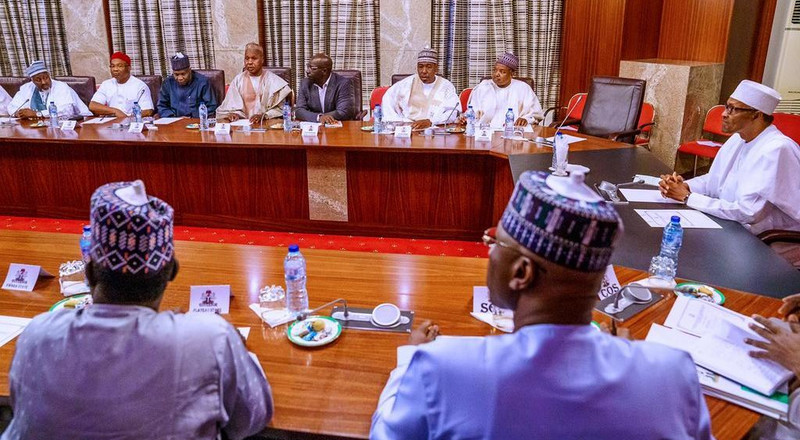 Buhari meets APC governors; Oshiomhole's fate hang in the balance as party postpones NEC meeting