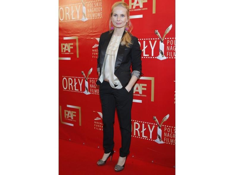 Magdalena Cielecka na gali rozdania nagród filowych Orły 2011
