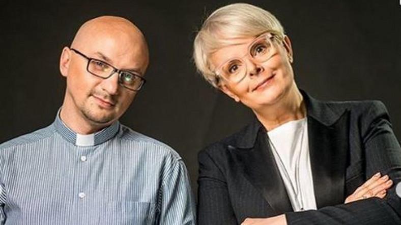 ojciec Grzegorz Kramer i Karolina Korwin Piotrowska