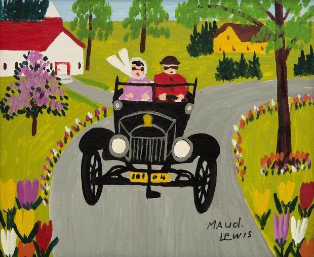 """Sunday Ride"", Maud Lewis"