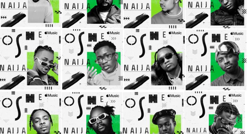 Nigerian producers, Sarz, Pheelz, Tempoe, Legendury Beatz, Spax and more join 'Oshe Naija Campaign' Apple Music for Independence Day. (Apple Music)