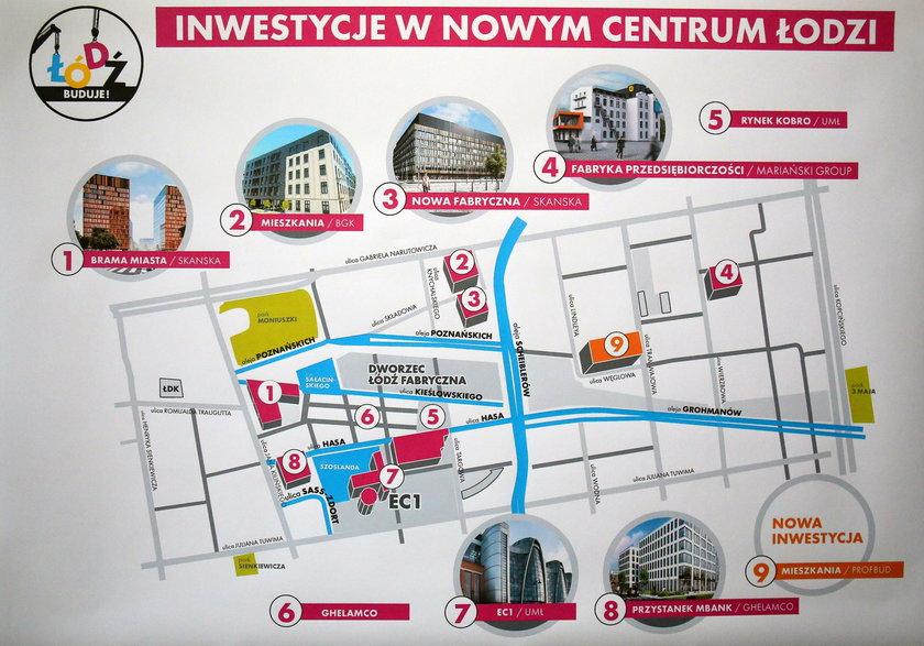 Nowe Centrum Łodzi. realizowane inwestycje
