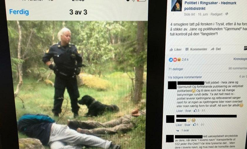 Norweska policjantka o imieniu Jane została okrzyknięta bohaterką, po tym jak w brawurowy sposób zatrzymała trzech przemytników z Polski