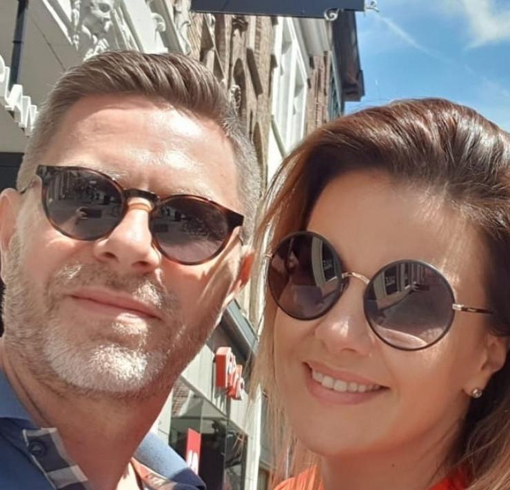 Maja Nikolić sa mužem Aleksandrom