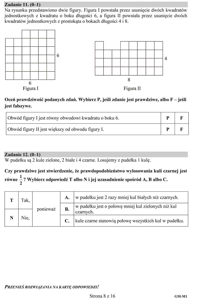 Egzamin Gimnazjalny 2018: Część matematyczno-przyrodnicza. Odpowiedzi i Arkusze CKE
