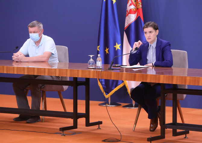 Premijerka Ana Brnabić i dr Goran Stevanović