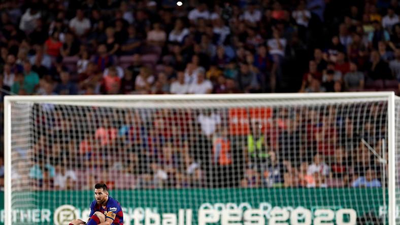 Leo Messi w meczu FC Barcelona