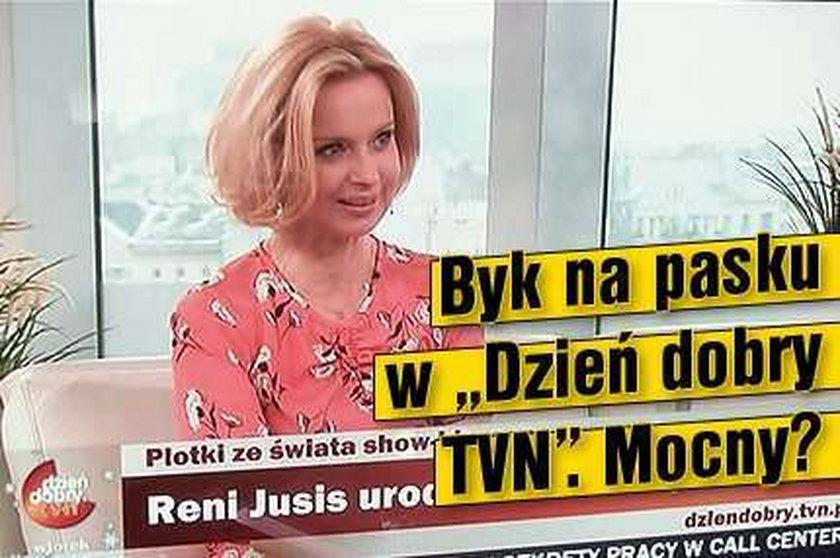 """Byk na pasku w """"Dzień dobry TVN"""". Mocny?"""